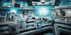 Invasion Laboratories by Nikolay Razuev, via Behance, matte painting, concept art, creative retouching