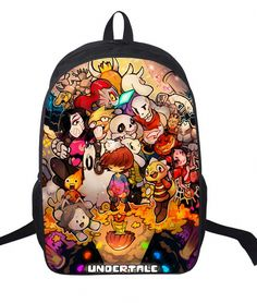 16 Inch Anime Undertale Backpack For Teenagers Boys Girls School Bags Women  Men Travel Bag Children 16239e34d67bd