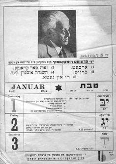 Lodz Ghetto Rumkowski 1942 Calendar.