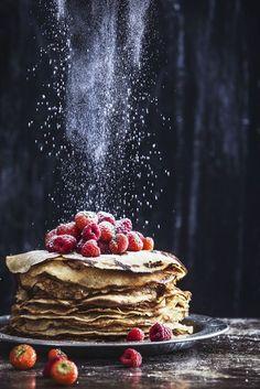 Glutenfree and dairyfree pancakes food photography, art, foodstyling, healthy li. - The sweet portfolio - Dessert Think Food, Love Food, Great Food, Perfect Food, Crepes, Dark Food Photography, Breakfast Photography, Sweets Photography, Photography Jobs