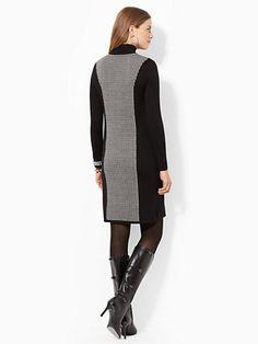 Houndstooth Turtleneck Dress - Short Dresses  Dresses - RalphLauren.com