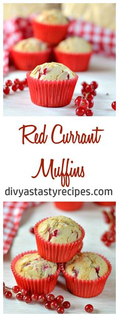 redcurrant muffins, red currant muffins