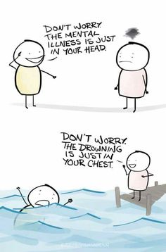 Taking care of your mental health is just as important as taking care of your physical health. Here are a few tips to help you maintain a good mental state. Mental Health Humor, Mental And Emotional Health, Mental Health Matters, Mental Health Stigma, Mental Illness Stigma, Mental Health Support, Health Education, Education Quotes, Mental Illness Awareness