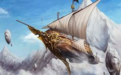 flying pirate ship - Google Search