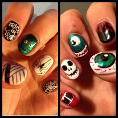 Halloween nails from Nails By Helen #nails #halloweennails #nailart
