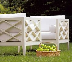 McKinnon and Harris outdoor chairs for patio. Outdoor Seating, Outdoor Rooms, Outdoor Gardens, Outdoor Chairs, Outdoor Living, Outdoor Decor, Lawn Chairs, Find Furniture, Garden Furniture