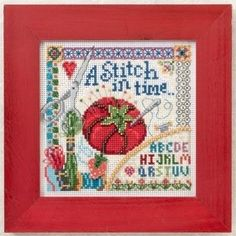"""MH142104 - Stitch in Time (2012) - Mill Hill - Buttons and Bead Kits - Spring Series Kit Includes: Beads, ceramic button, perforated paper, floss, needles, chart and instructions.  Mill Hill frame GBFRM9 sold separately Size: 5"""" x 5"""""""