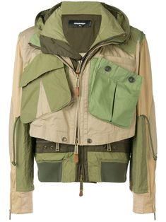 Military-Jacke im Layering-Look - Grün Barbour, Outdoor Activities For Adults, Mode Man, Work Jackets, Men's Jackets, Casual Jackets, Military Fashion, Military Clothing, Camo Fashion
