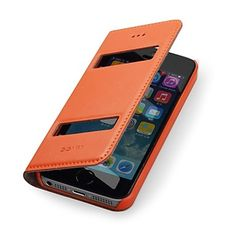 GGMM®Genuine Leather Full Body Case with Double Windows for IPhone5/5s(Assorted Colors) – USD $ 15.60