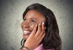 Smiling women : Women latin american and hispanic ethnicity black