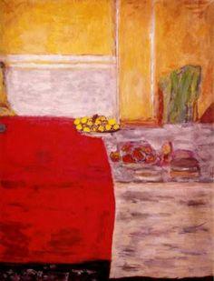 Bonnard Fruit on a Red Tablecloth