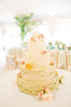 Ombre Frosted Wedding Cake