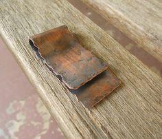 Earth Man - Distressed Copper Money Clip. $35.00, via Etsy.