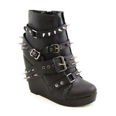 Abbey Dawn 109 Studed Wedge Bootie Women US Size 9 | eBay