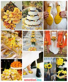 #Inspiração: Casamento amarelo e laranja