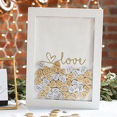 Cathy's Concepts Gold Finish Monogram Shadowbox Heart Drop Guestbook Set, Yellow Source by Christmas Wedding, Fall Wedding, Diy Wedding, Rustic Wedding, Dream Wedding, Wedding Ideas, Wedding Matches, Wedding Attire, Wedding Themes