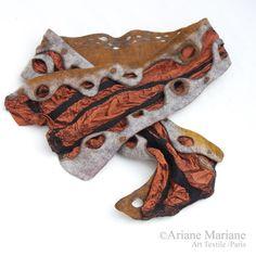 Nuno-Filz Damen Schal Baumrinde Schal grau Cooper von ArianeMariane