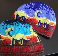 Dino Topper - Ravelry child size dinosaur hat knitting pattern