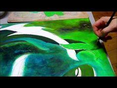 Artiste peintre : création d'une toile peinture acrylique : Zodiaque PO - AlecArt - YouTube
