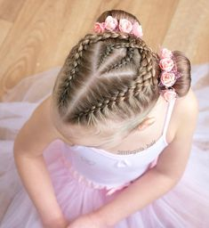 Buns for ballet today ! and Dutch braids crossed over into ballet buns finished. Dutch Pigtail Braids, Pigtail Buns, Ballet Hairstyles, Baby Girl Hairstyles, Braided Hairstyles, Cool Hairstyles, Crazy Braids, Little Girl Braids, Toddler Girls