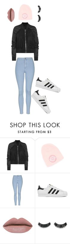 """""""run new york"""" by zoey-boo on Polyvore featuring Rick Owens, Topshop, adidas, women's clothing, women, female, woman, misses, juniors and createdbyzoey"""