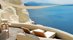 Day dreaming** A view from resort Mystique in Oia, Santorini, Greece.