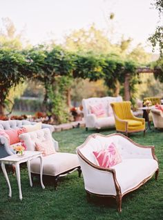 Found Vintage Rentals providing some comfy and unique ceremony seating in this Ojai Wedding shot by Ryan Ray outdoor wedding Wedding Ceremony Seating, Wedding Reception, Wedding Shot, Outdoor Ceremony, Wedding Lounge, Wedding App, Reception Seating, Budget Wedding, Party Wedding