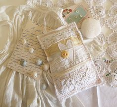 Romantic Lavender Sachet Wedding Gift Eco Chic Repurposed Vintage Linen and Lace Wedding Favor by Mycherrytree on Etsy. $17.00, via Etsy.