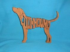 Scroll Saw Wooden Puzzles | Coonhound Dog Scroll Saw Wooden Puzzle
