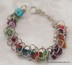 Choo Choo Train Chain Maile bracelet Tutorial - http://www.diybeadingclub.com/amember/aff/go?r=5