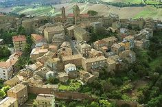 The medieval town of Monterubbiano province of Fermo in the region Le Marche Italy.