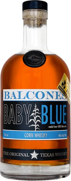 Help - I am out -Balcones Baby Blue is an award-winning whiskey made from 100% blue corn (atole). Nose: melted butter, kettle corn, vanilla, toffee, cinnamon and nutmeg, fresh bread and honey, fresh ground coffee, baking chocolate. Palate: Tropical fruit, slight apricot, brown sugar, cotton candy, sweet tea with lemon, smoked chilis. Finish: Medium long warming, late cinnamon/leather spice, mint and green pepper corns