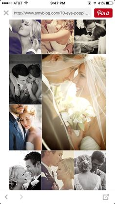 Up close and personal. Sweet pics with bride and groom
