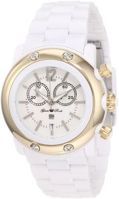Glam Rock Women's White Dial Plastic Watch