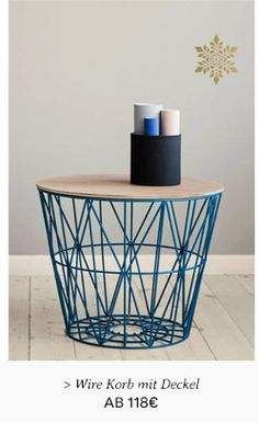 Wire basket large by Ferm Living Metal Working, Large Baskets, Ferm Living, Home Decor, Basket, End Tables, Table Top, Bins, Coffee Table