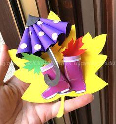 Children& autumn paper crafts Umbrella boots autumn paper craft for kids autumn fall umbrella lavoretti autunno. Fall Arts And Crafts, Autumn Crafts, Fall Crafts For Kids, Paper Crafts For Kids, Preschool Crafts, Fun Crafts, Art For Kids, Diy And Crafts, Hedgehog Craft