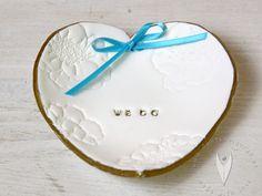 Personalisierte Ringschale für die Hochzeit - Hochzeitsdeko - Hochzeitsdekoration - Hochzeitsideen -www.tortenfiguren.at