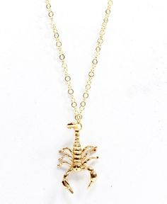 Scorpion necklacezodiac scorpiosymbol tattoo scorpiorhinestone gold scorpion necklace mozeypictures Images