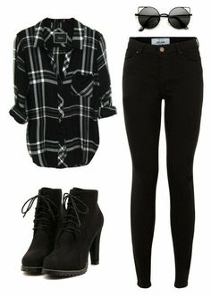 Black Flannel Fashion Outfit Ideas Stylebook Fall Fashion Womens Fa Informations About Schwarze Flanell Mode Flannel Fashion, Flannel Outfits, Teen Fashion Outfits, Hipster Outfits, Cute Casual Outfits, Fashion Mode, Mode Outfits, Grunge Outfits, Outfits For Teens