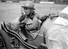 Tomboy Style: Photo of Doreen Evans at Brooklands in 1936 via Flashbak (found via the Hand-Eye Supply blog).