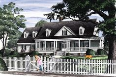 House Plan 86193 | Cottage Country Traditional Plan with 2566 Sq. Ft., 4 Bedrooms, 3 Bathrooms, 2 Car Garage