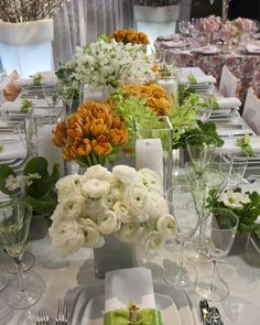 The Martha Stewart Show, February 2010... look at all the little vases with a single color and/or flower...simple, easy, but stunning.