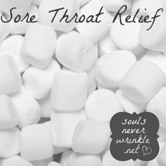 Sore Throat Relief: The marshmallow was first made to help relieve a sore throat! Just eat a few of them when your throat is hurting and let them do their magic. Good to know! - Click image to find more Other Pinterest pins