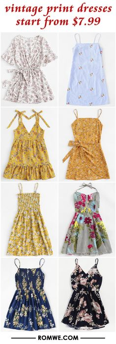 vintage print dresses from $7.99