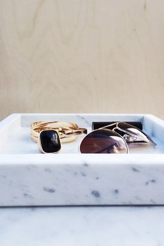 carrara marmeren tray 4cm