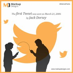 first #Tweet was sent on March 21, 2006 by #JackDorsey !!  #InternetFacts #MarkupDesigns #TwitterFacts