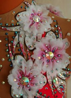 Alina Solodyagina on face book Sport Gymnastics, Rhythmic Gymnastics Leotards, Diy Costumes, Dance Costumes, Figure Skating Dresses, Ballroom Dress, Flower Crafts, Dance Dresses, Fabric Art