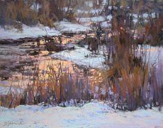 """Evening's Sparkling Entrance"" pastel, 11x14 © 2017 Barbara Jaenicke"
