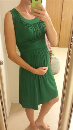 Stitch Fix #12 Gilli Kamile Maternity Dress. I kept this! The color is stunning and perfect for St. Patty's Day! (16 wks pregnant)