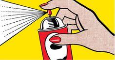 """Love this so much""""Spray"""", 1962. Roy Lichtenstein"""